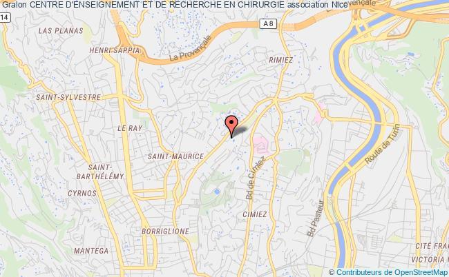 plan association Centre D'enseignement Et De Recherche En Chirurgie Nice