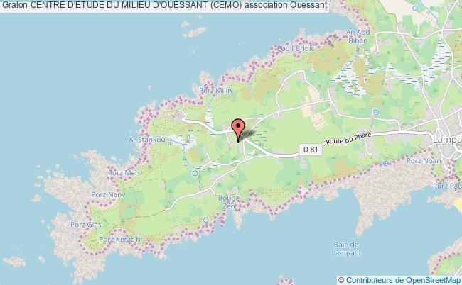 plan association Centre D'etude Du Milieu D'ouessant (cemo)