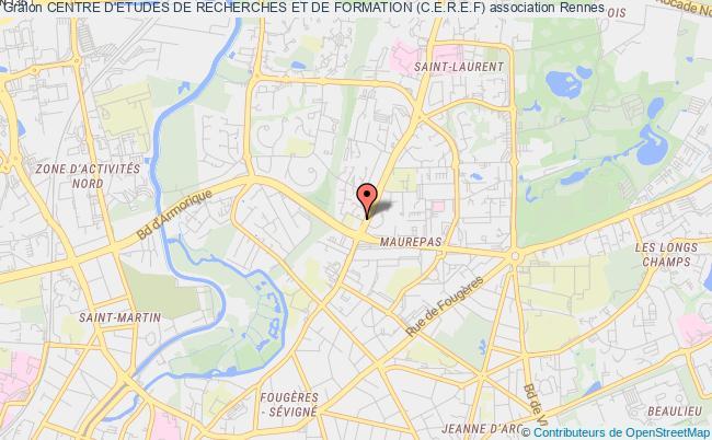 plan association Centre D'etudes De Recherches Et De Formation (c.e.r.e.f)
