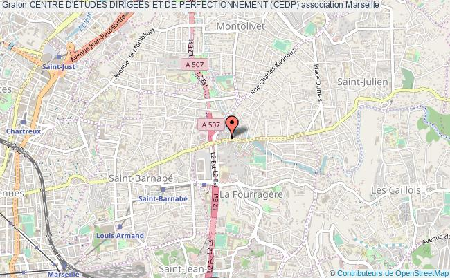 plan association Centre D'etudes Dirigees Et De Perfectionnement (cedp) Marseille