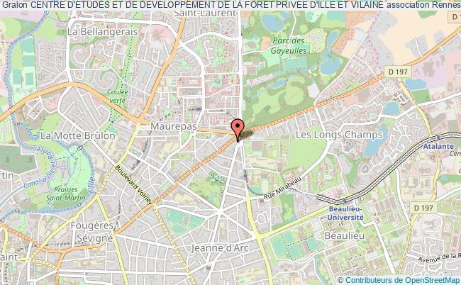 plan association Centre D'etudes Et De Developpement De La Foret Privee D'ille Et Vilaine