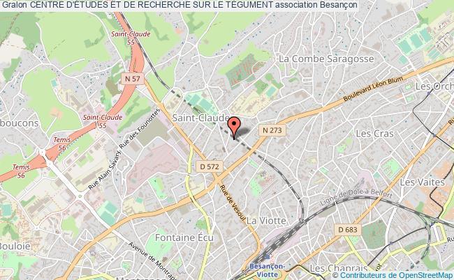 plan association Centre D'Études Et De Recherche Sur Le TÉgument