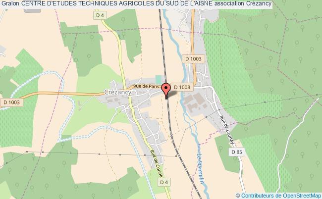 plan association Centre D'etudes Techniques Agricoles Du Sud De L'aisne