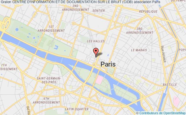 plan association Centre D'information Et De Documentation Sur Le Bruit (cidb) Paris
