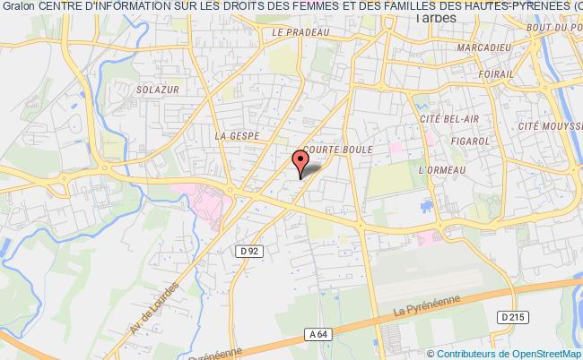 plan association Centre D'information Sur Les Droits Des Femmes Et Des Familles Des Hautes-pyrenees (c.i.d.f.f.) Tarbes