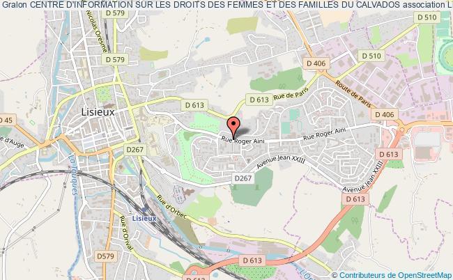 plan association Centre D'information Sur Les Droits Des Femmes Et Des Familles Du Calvados