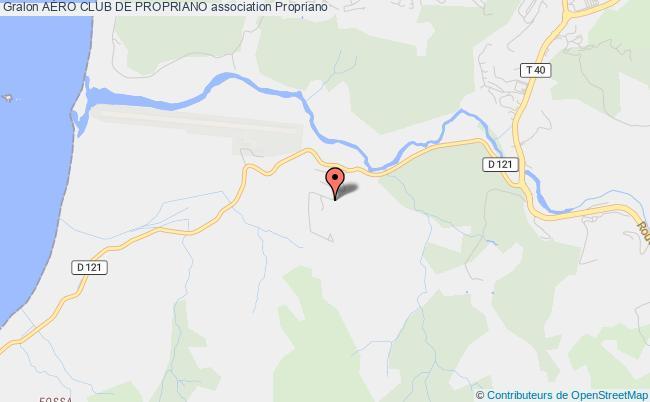 plan association Centre D'instruction Et De Formation Aeronautique Du Sartenais / Valinco