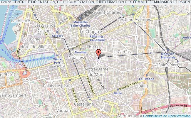 plan association Centre D'orientation, De Documentation, D'information Des Femmes-feminismes Et Parentalites (codifes-fp) Marseille