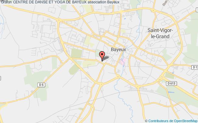 plan association Centre De Danse Et Yoga De Bayeux Bayeux
