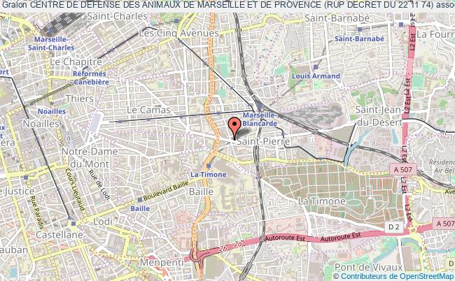 plan association Centre De Defense Des Animaux De Marseille Et De Provence (rup Decret Du 22 11 74)