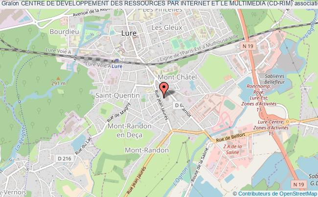 plan association Centre De Developpement Des Ressources Par Internet Et Le Multimedia (cd-rim)