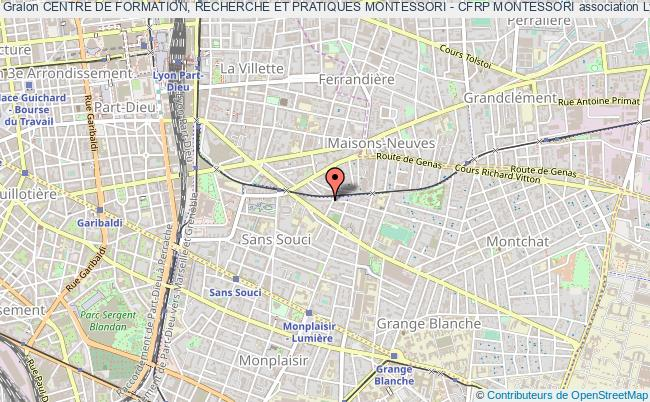 plan association Centre De Formation, Recherche Et Pratiques Montessori - Cfrp Montessori