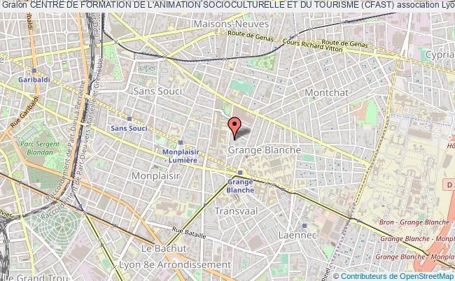 plan association Centre De Formation De L'animation Socioculturelle Et Du Tourisme (cfast)