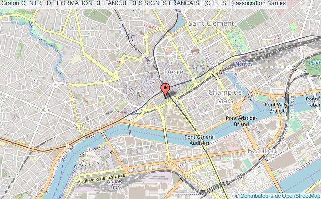 plan association Centre De Formation De Langue Des Signes Francaise (c.f.l.s.f)