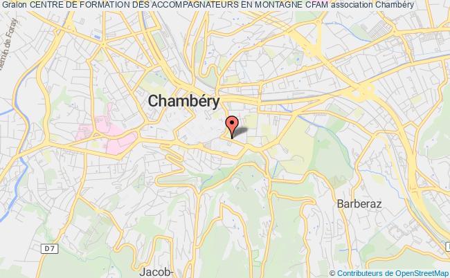 plan association Centre De Formation Des Accompagnateurs En Montagne Cfam