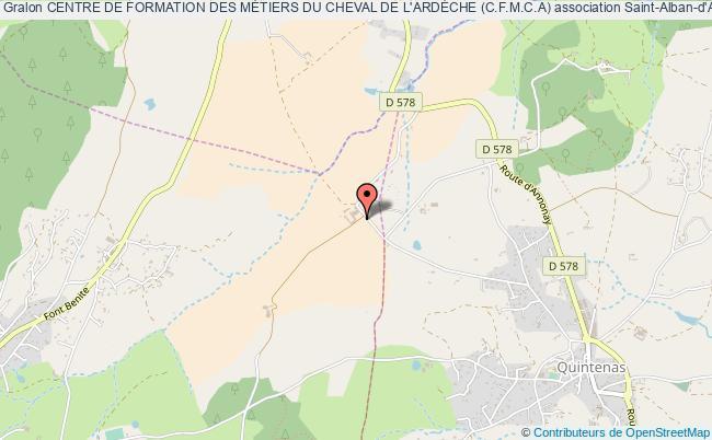 plan association Centre De Formation Des MÉtiers Du Cheval De L'ardÈche (c.f.m.c.a) Saint-Alban-d'Ay