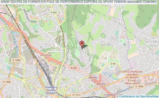plan association Centre De Formation Pole De Performance Espoirs Du Sport Feminin