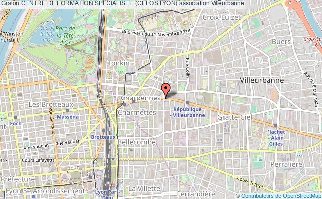 plan association Centre De Formation Specialisee (cefos Lyon)
