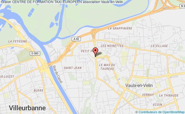 plan association Centre De Formation Taxi Europeen