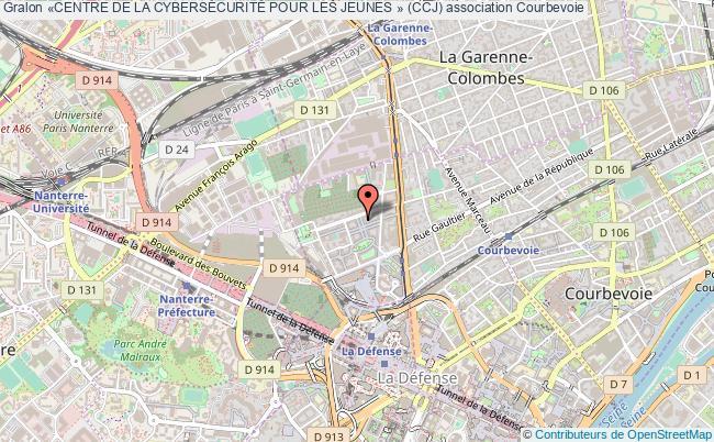 plan association «centre De La CybersÉcuritÉ Pour Les Jeunes » (ccj) Courbevoie