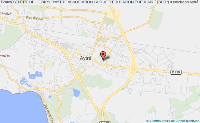 plan association Centre De Loisirs D'aytre Association LaÏque D'education Populaire (slep) Aytré