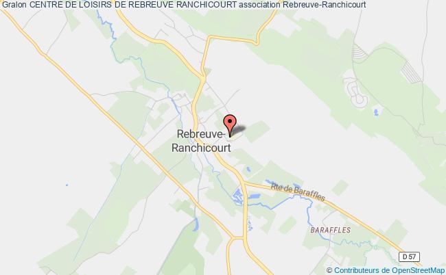 plan association Centre De Loisirs De Rebreuve Ranchicourt
