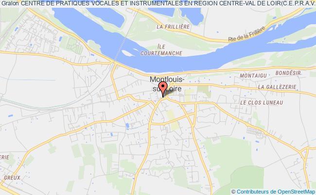 plan association Centre De Pratiques Vocales Et Instrumentales En Region Centre-val De Loir(c.e.p.r.a.v.o.i;)