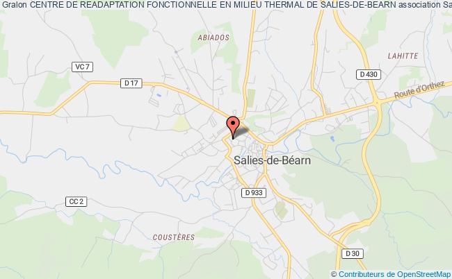 plan association Centre De Readaptation Fonctionnelle En Milieu Thermal De Salies-de-bearn