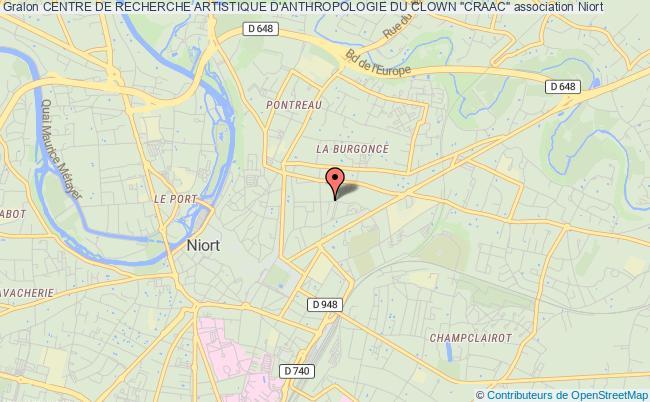"""plan association Centre De Recherche Artistique D'anthropologie Du Clown """"craac"""""""
