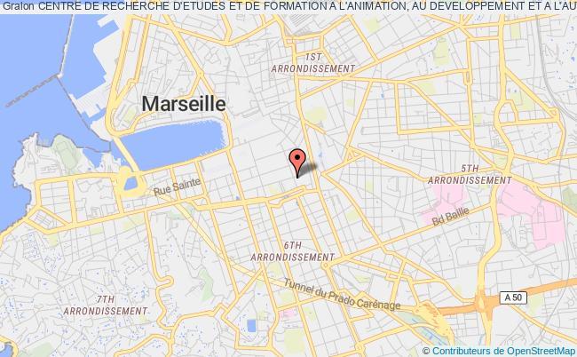 plan association Centre De Recherche D'etudes Et De Formation A L'animation, Au Developpement Et A L'autonomie (crefada) Marseille