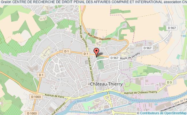 plan association Centre De Recherche De Droit PÉnal Des Affaires ComparÉ Et International Château-Thierry