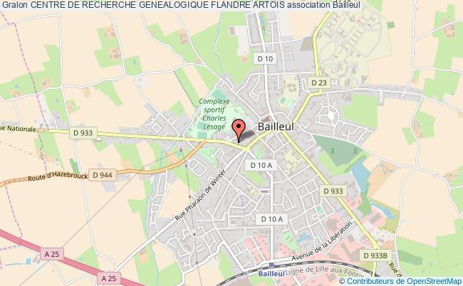 plan association Centre De Recherche Genealogique Flandre Artois