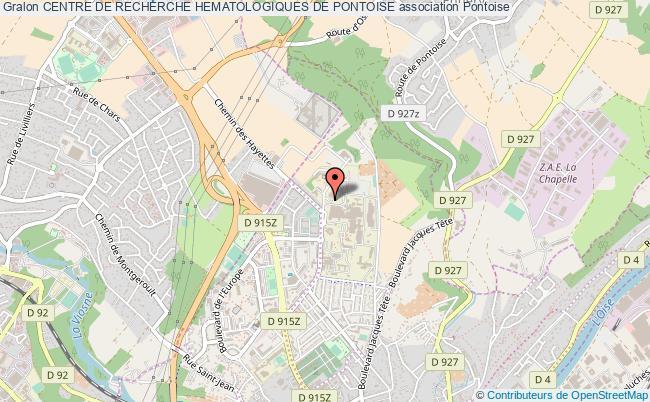 plan association Centre De Recherche Hematologiques De Pontoise Pontoise