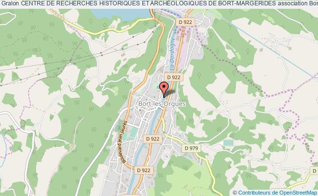 plan association Centre De Recherches Historiques Et ArchÉologiques De Bort-margerides