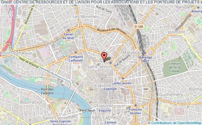 plan association Centre De Ressources Et De Liaison Pour Les Associations Et Les Porteurs De Projets Toulouse