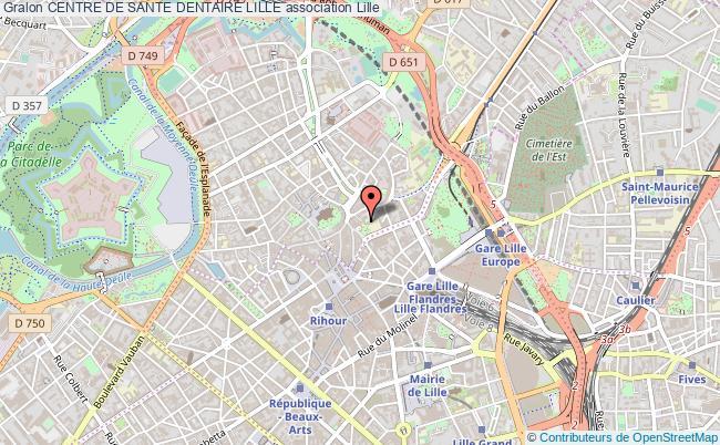 plan association Centre De Sante Dentaire Lille