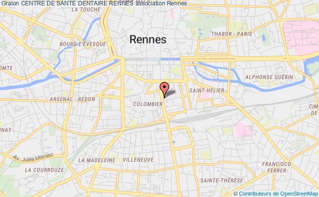 plan association Centre De Sante Dentaire Rennes Rennes