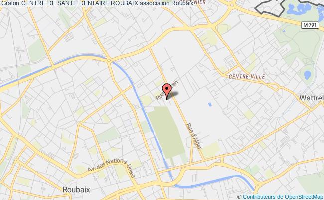plan association Centre De Sante Dentaire Roubaix Roubaix
