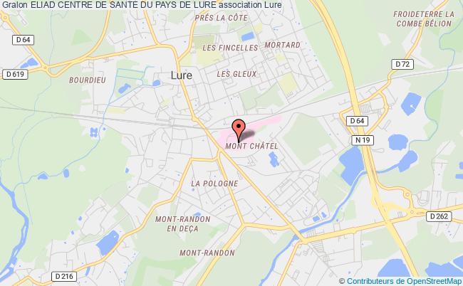 plan association Centre De SantÉ Du Pays De Lure - Cspl -