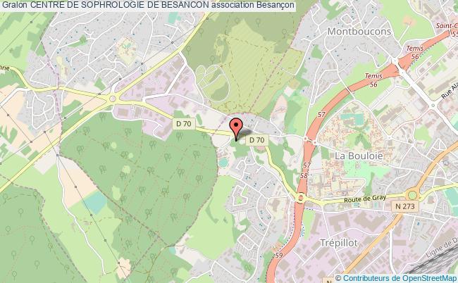 plan association Centre De Sophrologie De Besancon