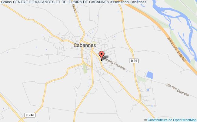 plan association Centre De Vacances Et De Loisirs De Cabannes