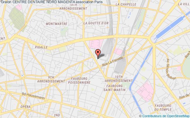 plan association Centre Dentaire Nord Magenta