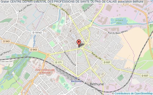 plan association Centre Departemental Des Professions De Sante Du Pas-de-calais