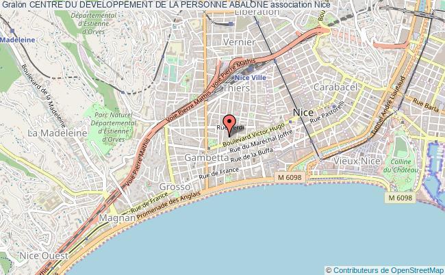 plan association Centre Du Developpement De La Personne Abalone Nice