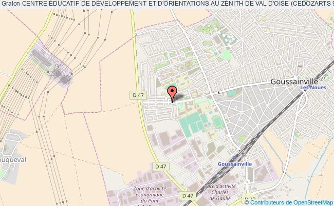 plan association Centre Éducatif De DÉveloppement Et D'orientations Au ZÉnith De Val D'oise (cedozarts 95) Goussainville