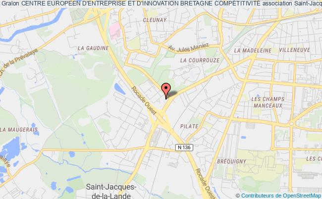 plan association Centre Europeen D'entreprise Et D'innovation Creativ (c.e.e.i. Creativ) Rennes Cedex