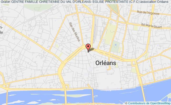 plan association Centre Famille Chretienne Du Val D'orleans- Eglise Protestante (c.f.c)
