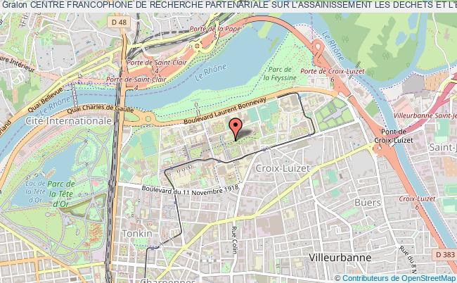 plan association Centre Francophone De Recherche Partenariale Sur L'assainissement Les Dechets Et L'environnement (cefrepade)
