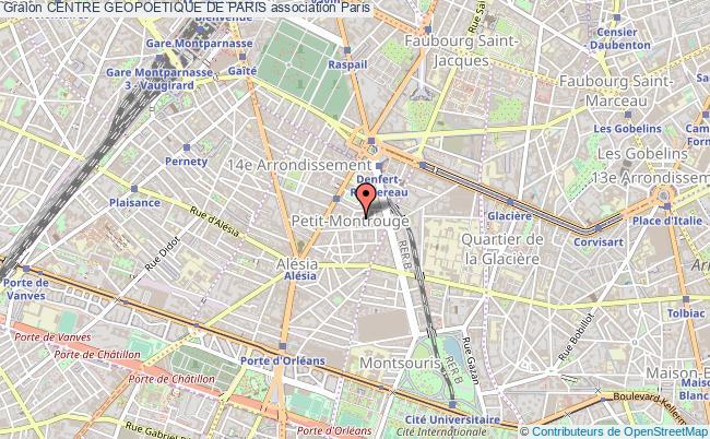 plan association Centre Geopoetique De Paris