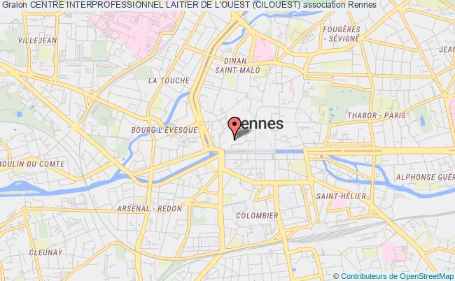 plan association Centre Interprofessionnel Laitier De L'ouest (cilouest)